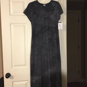 NWT Lularoe Black Tie-dye Maria Maxi Dress